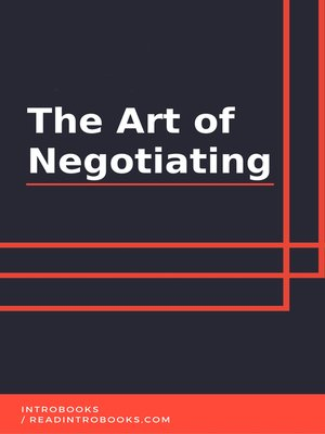cover image of The Art of Negotiating